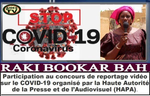 Participation de Raky Bookar Bah de AIDES TV  au concours de reportage vidéo organisée par la Haute Autorité de la Presse et de l'Audiovisuel (HAPA)