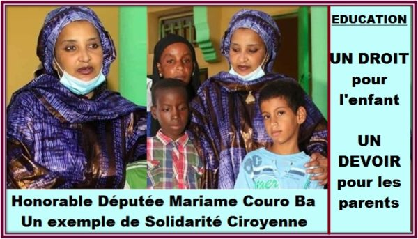 Honorable député Mariame Couro Ba, Un exemple de solidarité Citoyenne